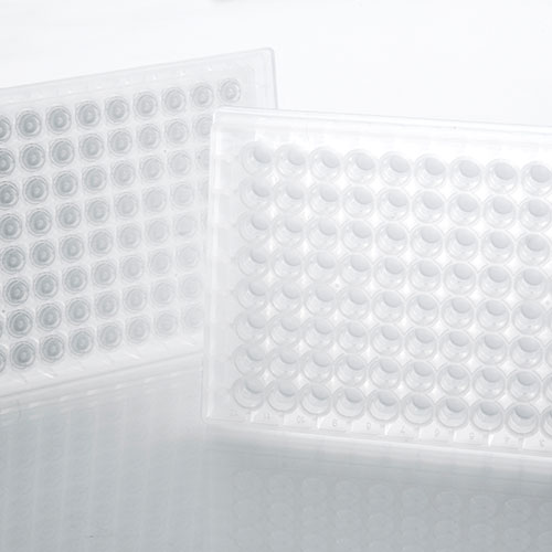 AcroPrep Advance Filter Plates for Aqueous Filtration - 2 mL, 30-40 µm PP/PE non-woven media (5/pkg) product photo Primary L