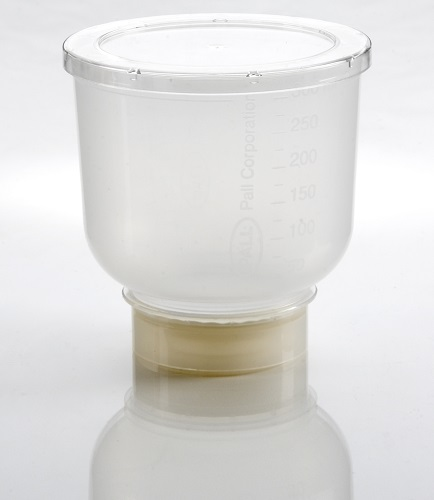 MicroFunnel 300 unit with 0.45 µm GN-6 Metricel membrane, white, gridded, individually bagged (20/pkg) product photo