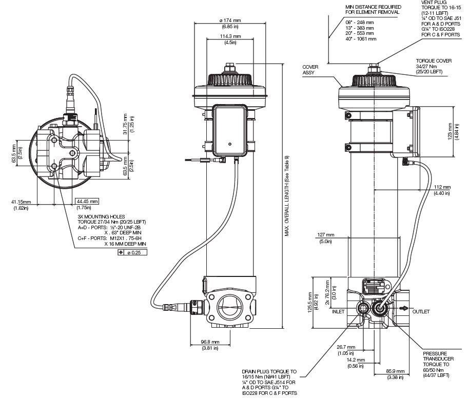 Ur318 Series Athalon Cm High Pressure Filters